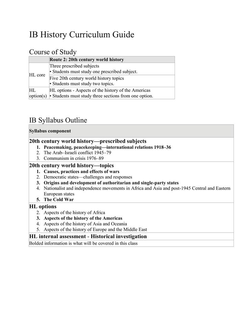 ib history paper 2