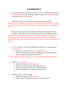 si worksheet 9