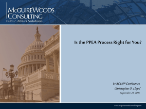 Is the PPEA Process Right for You?