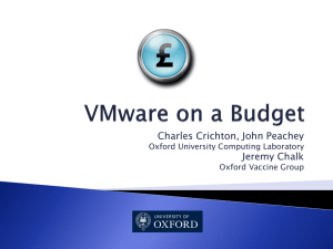 VMWare On A Budget