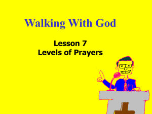 Lesson 7 - Church of Christ