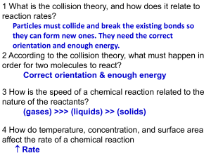 UNIT 11---CHEMICAL REACTIONS