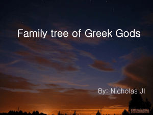 Family tree of Greek Gods