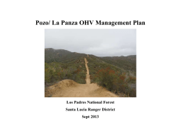 Pozo/ La Panza OHV Management Plan