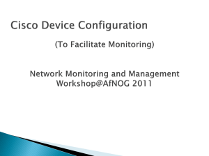 Network Operations and Management