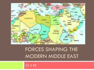 Forces shaping the modern middle east