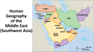 Physical Geography of the Middle East