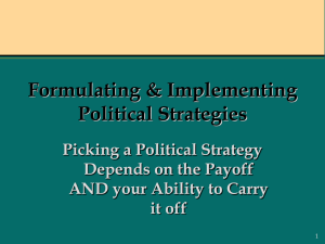 Formulating Political Strategies