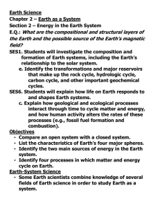 Section 2 – Energy in the Earth System