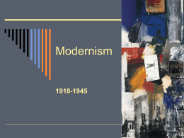 Introductory Notes on Modernism