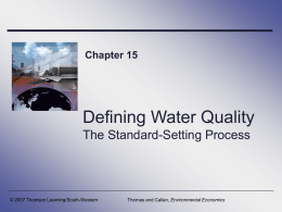 Defining Water Quality