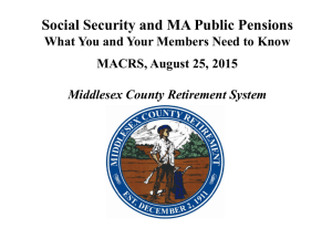 Social Security and MA Public Pensions