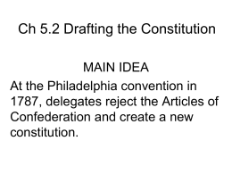 Ch 52 Drafting the Constitution