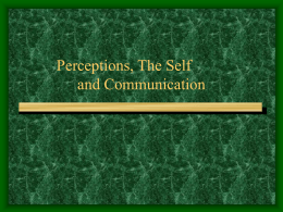 Perceptions, Self and Communication