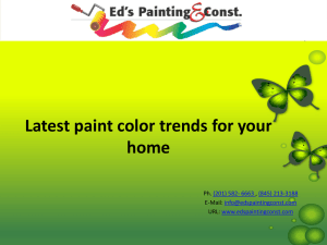 Latest paint color trends for your home