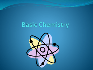 Basic Chemistry What is Chemistry?