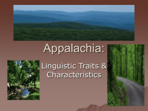 Appalachia Language