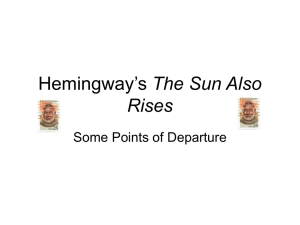 Hemingway's The Sun Also Rises-