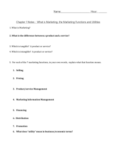 Marketing Notes Handout
