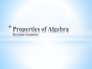 2.2 Properties of Algebra