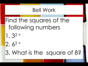 11-3 Solving and Estimating Square Roots