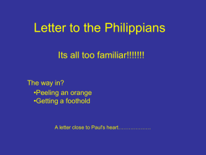 The Letter to the Philippians, 2 July 06
