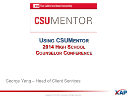 High School Counselors - The California State University