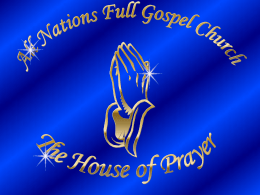 Vision of ANFGC - All Nations Full Gospel Church