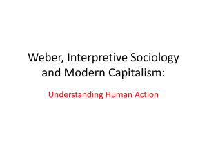 Weber and Interpretive Sociology: