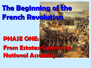 Estates General to National Assembly (Phase 1)