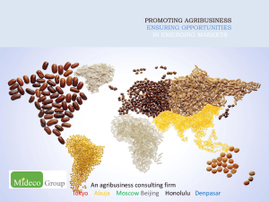 promoting agribusiness ensuring opportunities in emerging markets