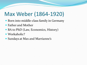 Weber lecture