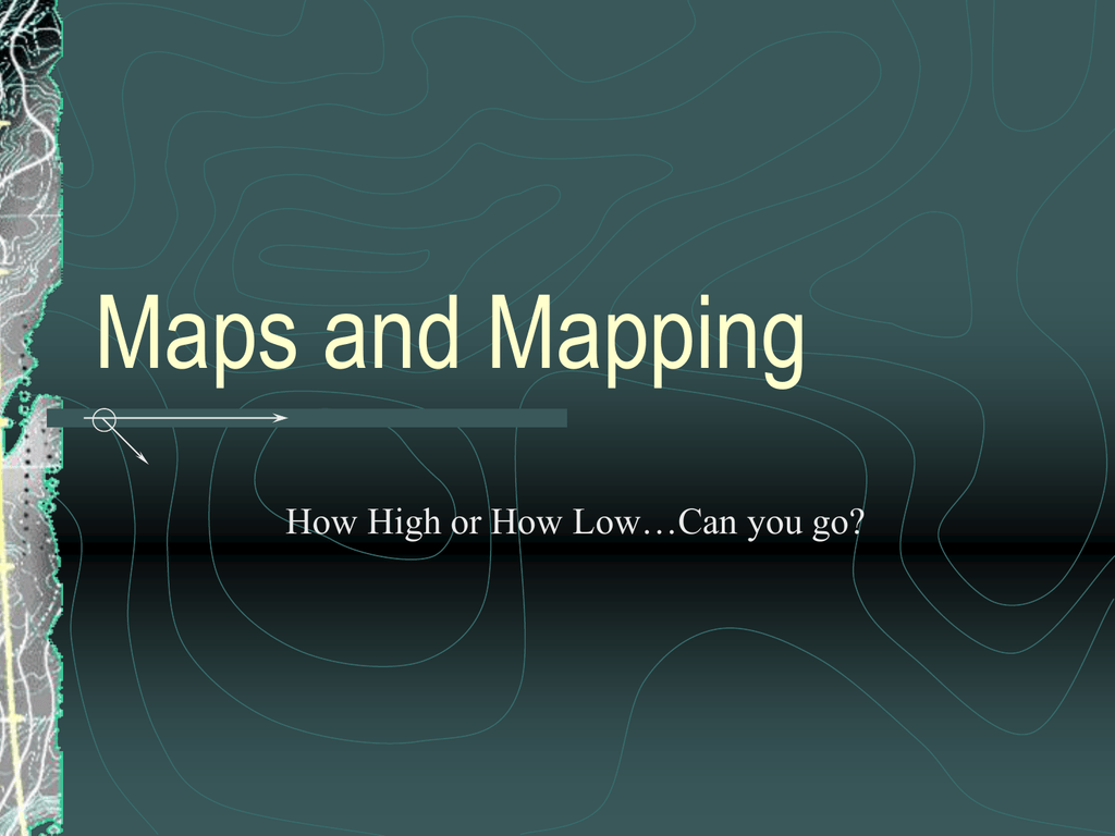 Contour Maps powerpoint on