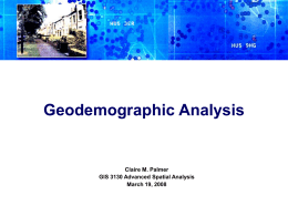 GeodemographicAnalysis