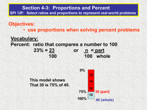 4-3 PPT Proportions and Percent
