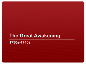 What was the Great Awakening?