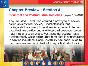 Industrial and Postindustrial Societies