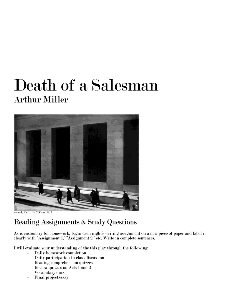 death of a sman arthur miller strand paul wall street
