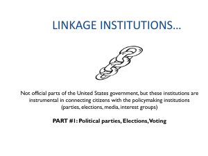 LINKAGE INSTITUTIONS1