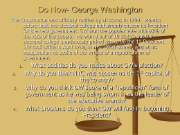 Do Now- George Washington