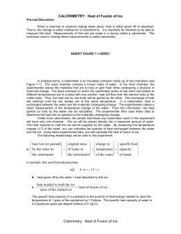 Heat of fusion of ice lab report
