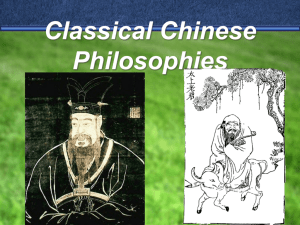 Classical Chinese Philosophies - Fort Thomas Independent Schools