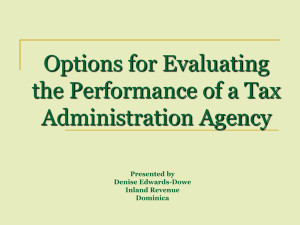 Option for Evaluating the Performance of a Tax Administration