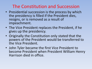 Presidential Succession and the VP (13