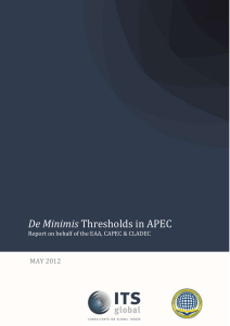 Threshold in APEC De Minimis 2012 English