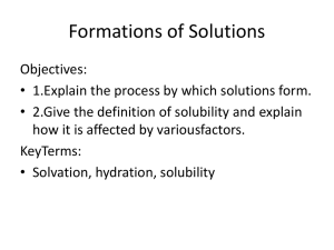 Formations of Solutions