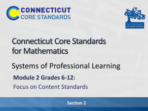 Section 2 - Connecticut Core Standards