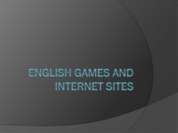 English Games and Internet Sites
