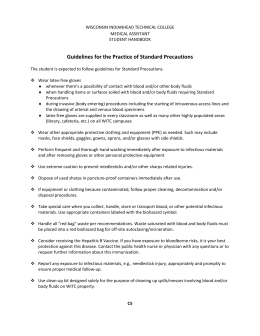 bloodborne pathogens policy template - waste disposal plan form