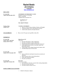 My Resume - University of Missouri